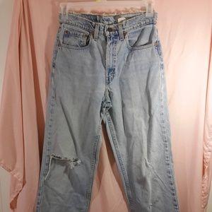 Levi's 550 Blue Jeans 30x30 Distressed Vintage